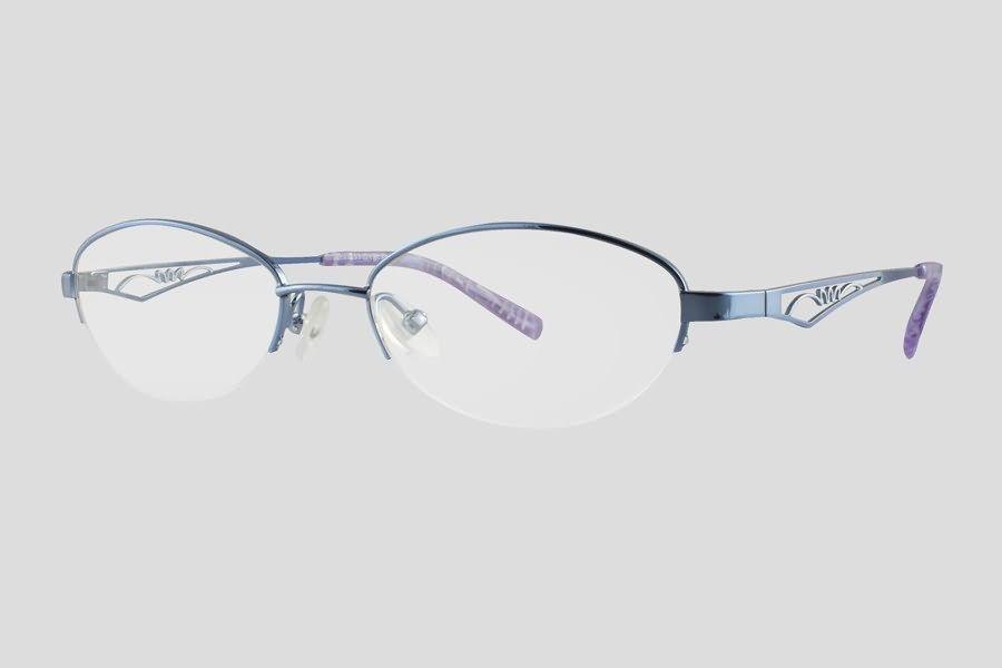 #Brillen van Exesto. Dit is de Barbera (art. nr. F10.313FBU). Mooi half-rand #montuur van blauw RVS. Ook verkrijgbaar in het paars.
