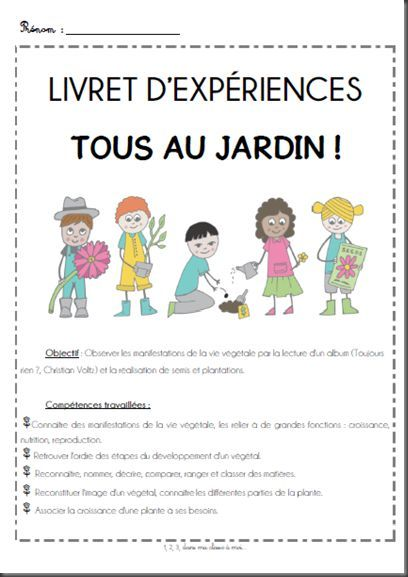 French garden project projet tous au jardin avec un for Le jardin voyageur maternelle