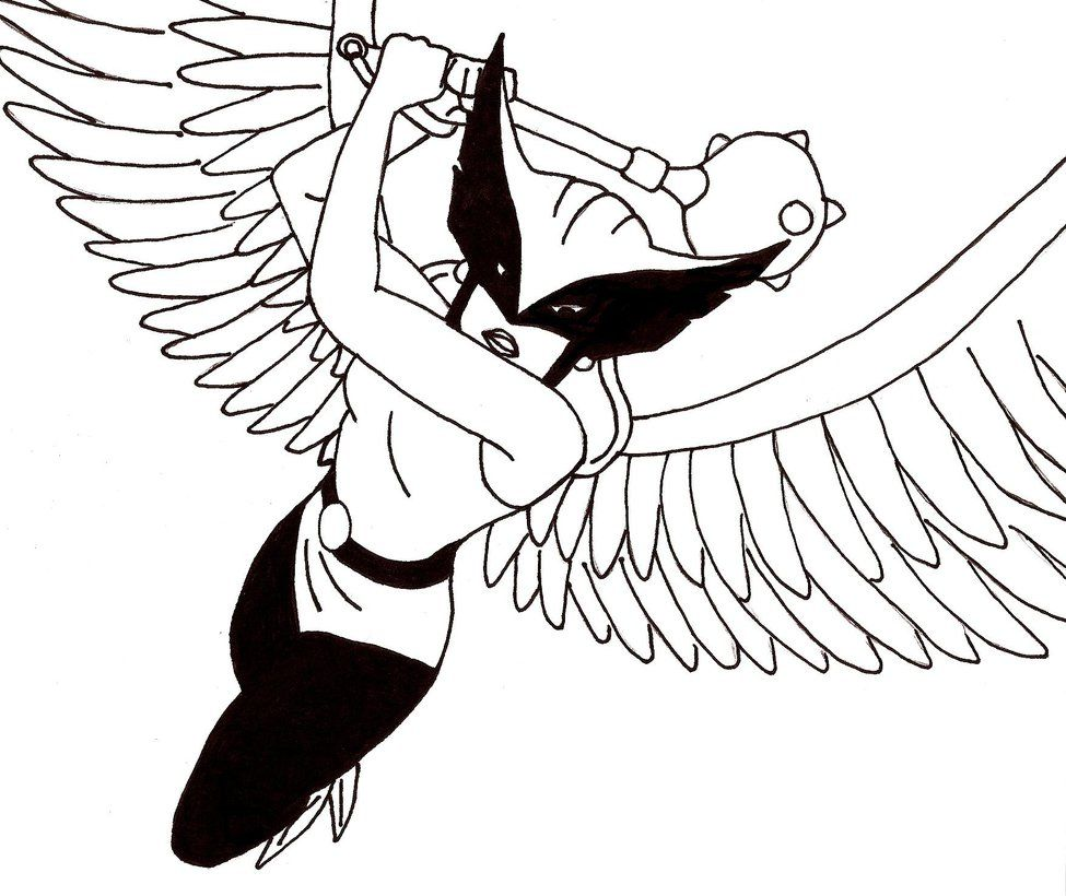 hawkgirl-coloring-pages-18.jpg (975×820) | Coloring 4 Kids: DC Super ...