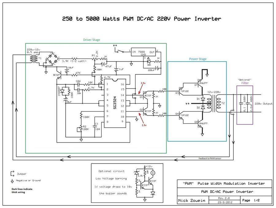 250 to 5000 Watts PWM DC/AC 220V Power Inverter Power