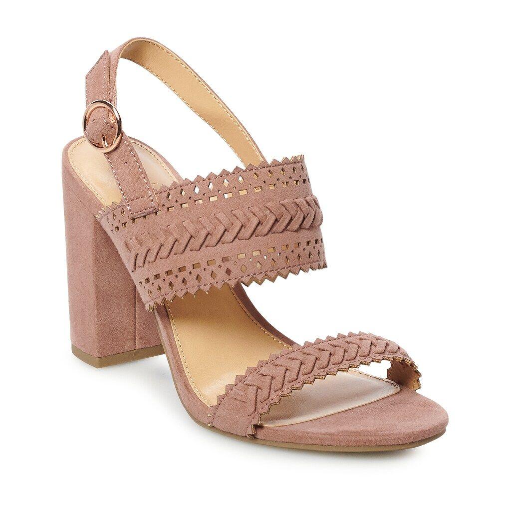 LC Lauren Conrad Bow Womens High Heel Sandals | Platform