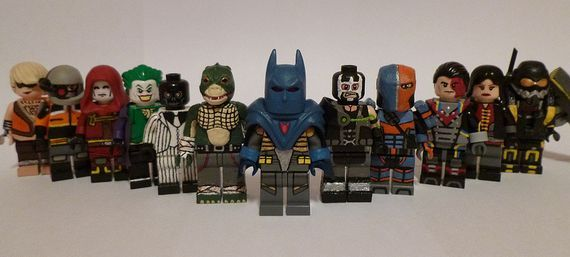 BATMAN Minifigures Custom DC  ARKHAM DARK KNIGHT fathers day GIFT FOR HIM