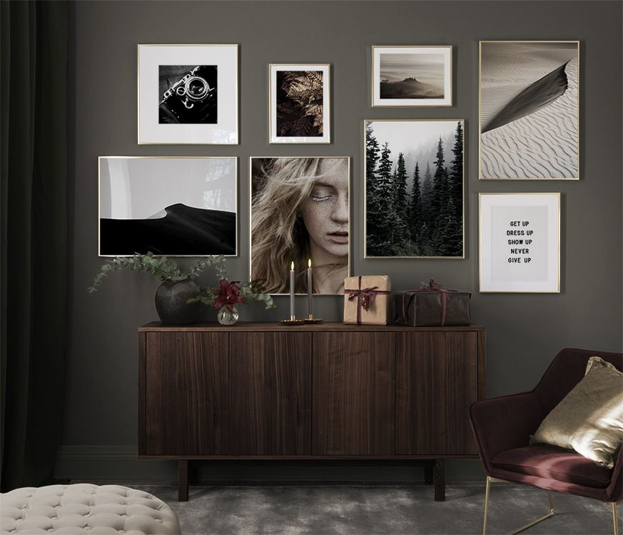 Billedvaeg I Sovevaerelse Indretning Og Plakater Til Sovevaerelset Fotovagg Vardagsrum Skap Inredning