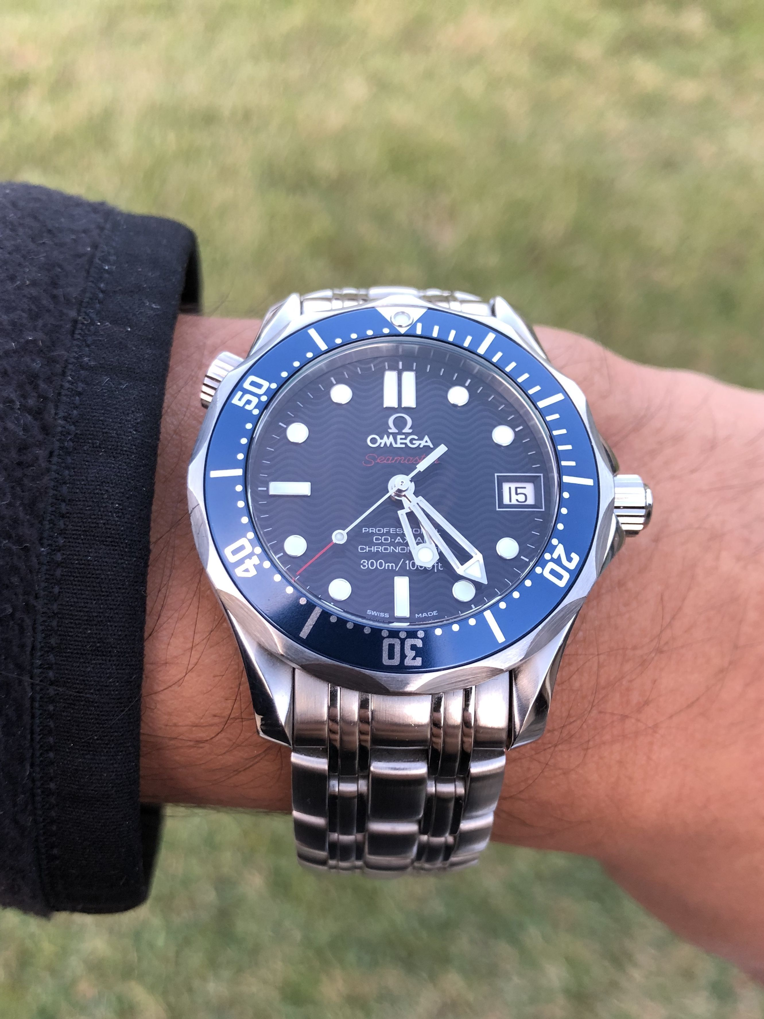 Omega Seamaster Pro 300M Co-Axial 36.25mm Diver Reference - 2222.80 ... 2b47c4b490