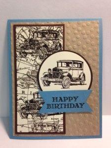 Rubber Stamping Handmade Birthday Card (1)