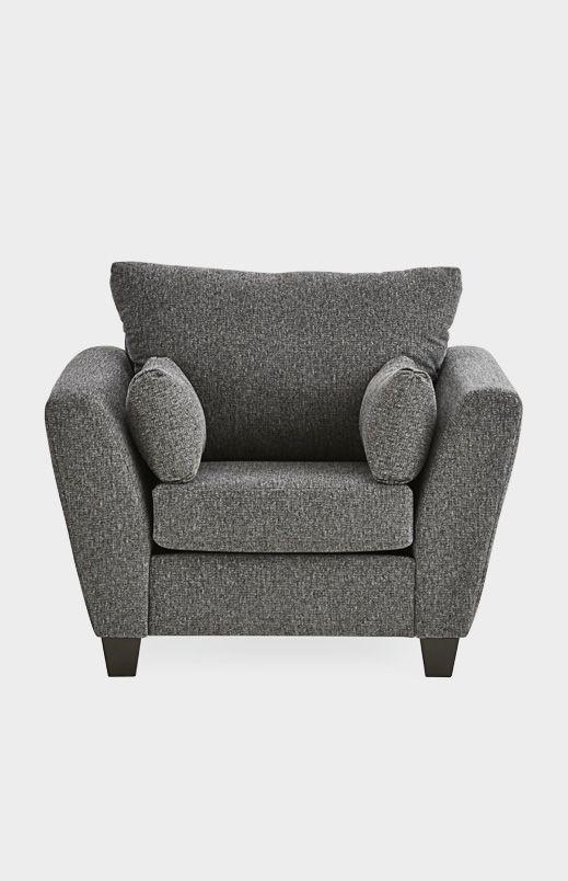 Image pour Fauteuil en tissu gris foncé  partir de BMCanada