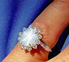 Art Deco Sapphire Diamond Engagement Ring Vintage