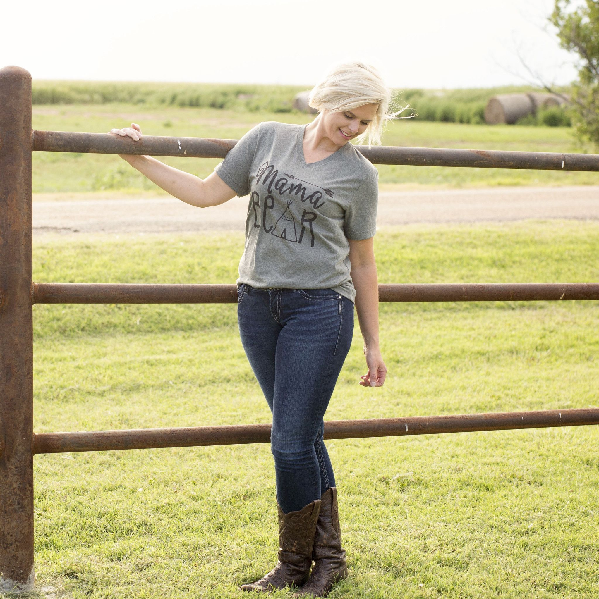 One of our best sellers featured in Lilly Jade's National Campaign! Tee is Unisex fit and a super soft triblend. Want matching sets…