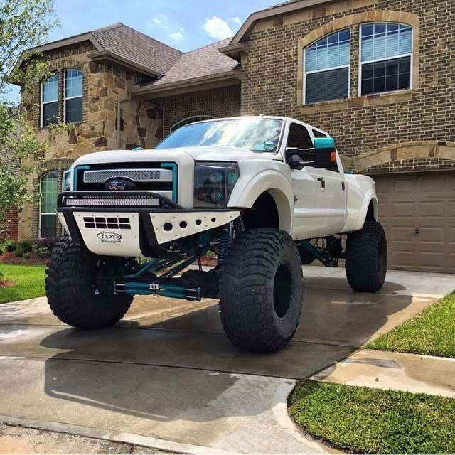 Ford F250 Platinum White Custom Modified Lifted 4x4 Trucks Ford