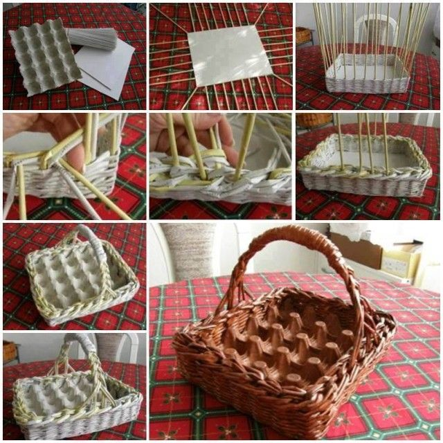 DIY Easter Egg Basket Out Of Woven Paper Amazing Design