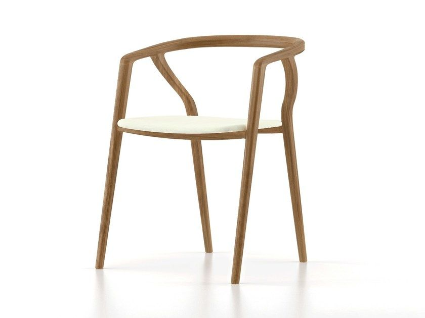 Sedia in legno con cuscino integrato olea by thelos chairs in