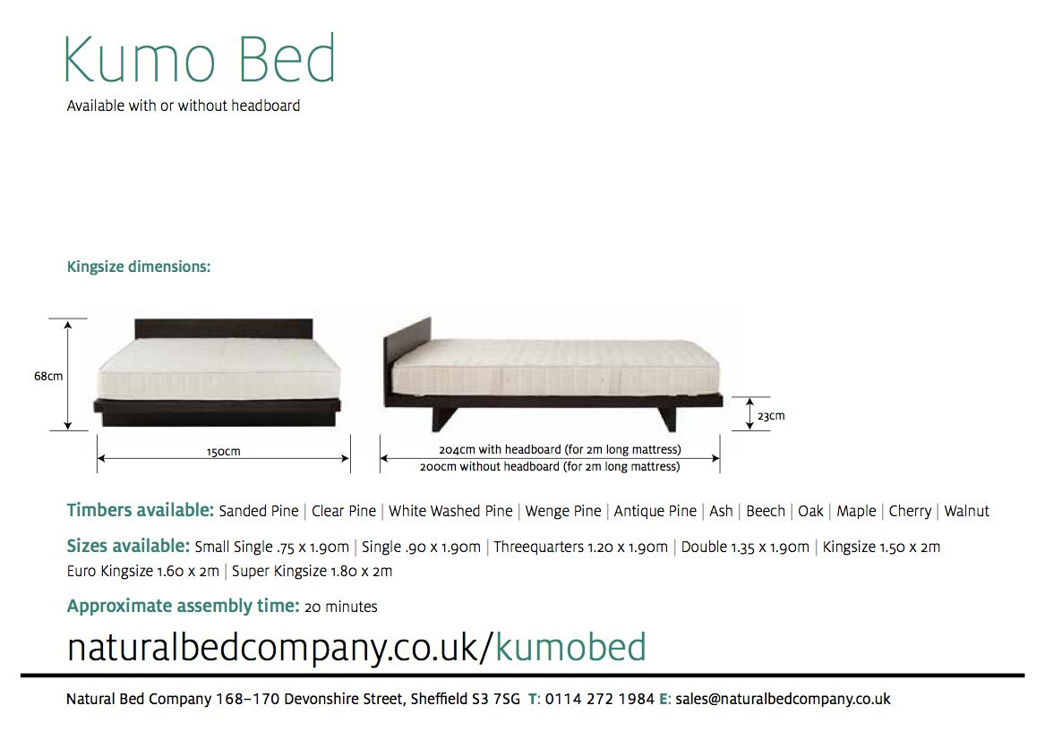 kumo bed with dimensions | Furniture | Pinterest
