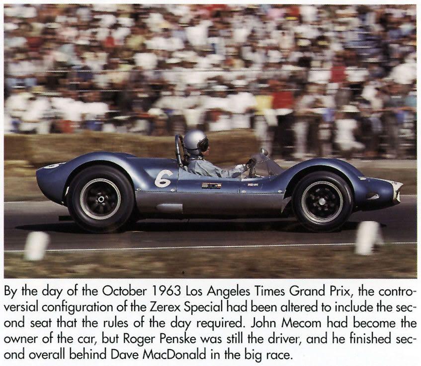 Zerex Special . .now part of the John Mecom Racing empire | Vintage ...