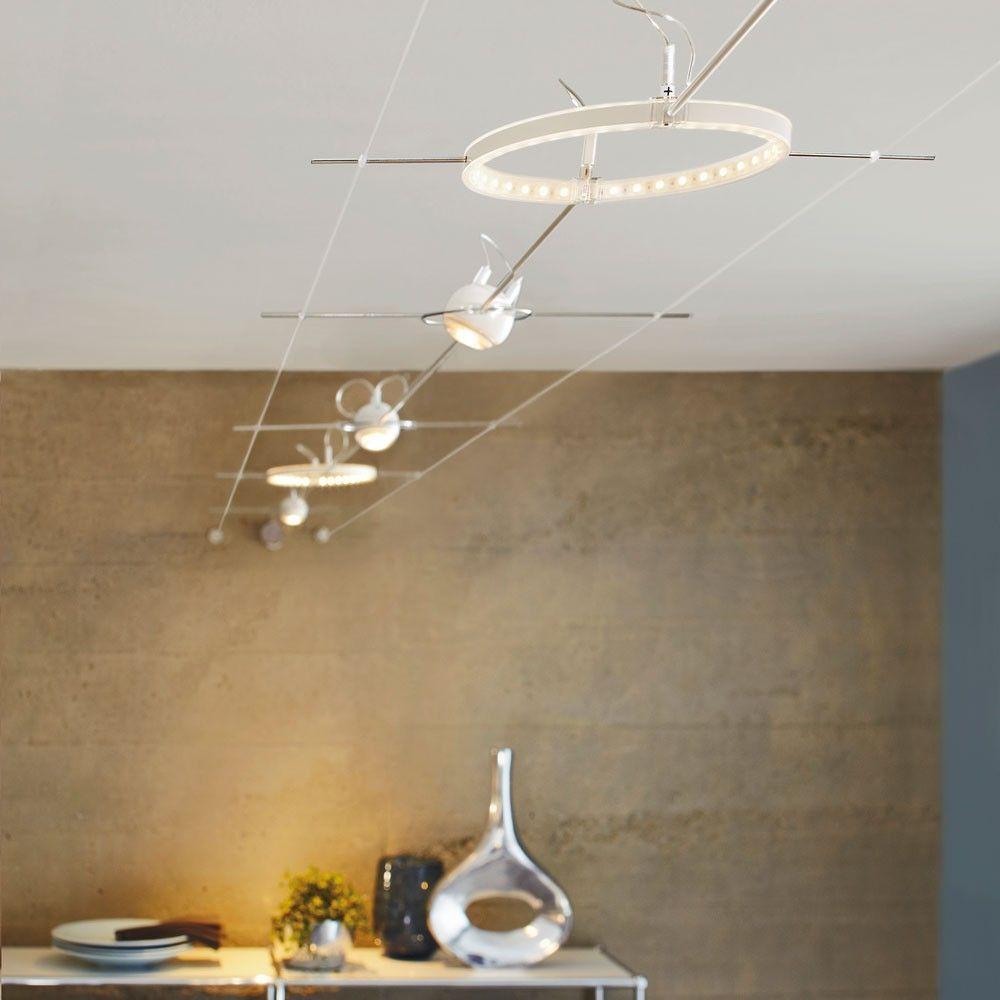 Spectacular SKAPETZE LED Seilsystem Komplettset BASIS au ergew hnliches Design Innenleuchten Deckenleuchten