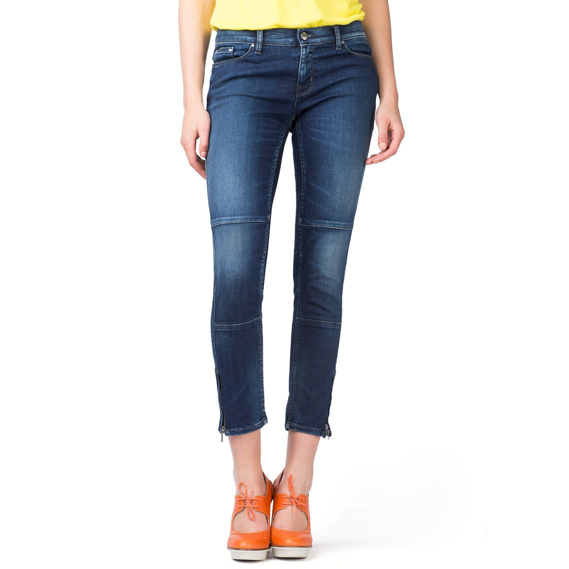 Tommy Hilfiger Womens Straight Leg Cropped Jeans