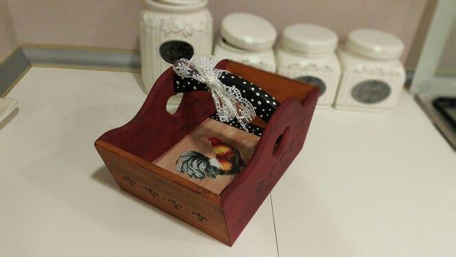 Ahşap Boyama Ekmek Sepeti Wood Painting Bread Basket Benim