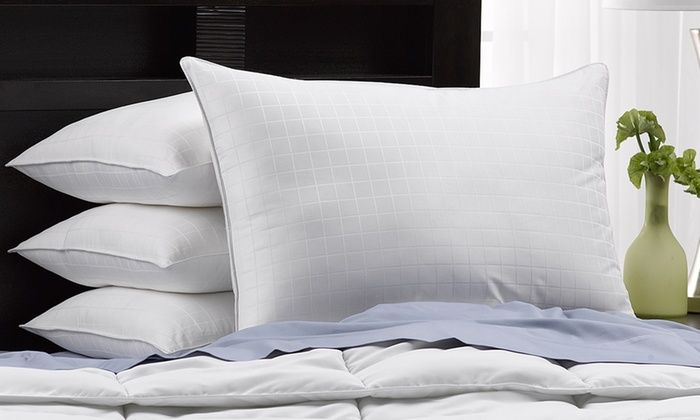 Hotel Luxe 300tc Cotton Gel Filled Soft Pillows 4 Pack Pillows