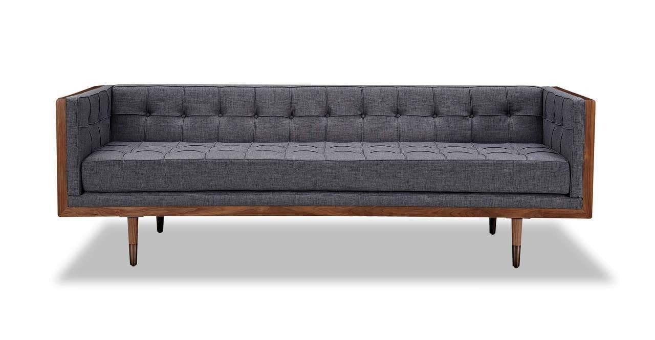 Harrelson sofa walnut kensington mid century modern sofa mid century modern furniture