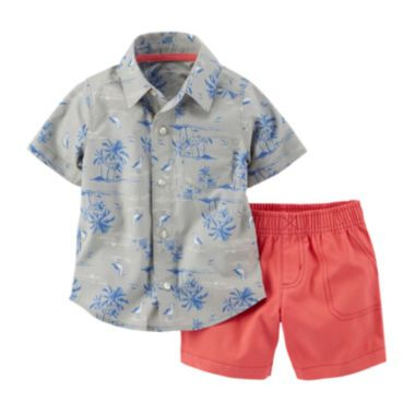 Carter's® Hawaiian Shirt and Shorts Set - Baby Boys newborn-24m  found at @JCPenney