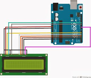 Mechatronics Engineering: Interfacing LCD without a potentiometer( In Arduino and CCS)