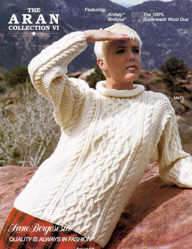 The Aran Collection VI - Knitaly KnitUSA Sweaters Knitting Patterns ...