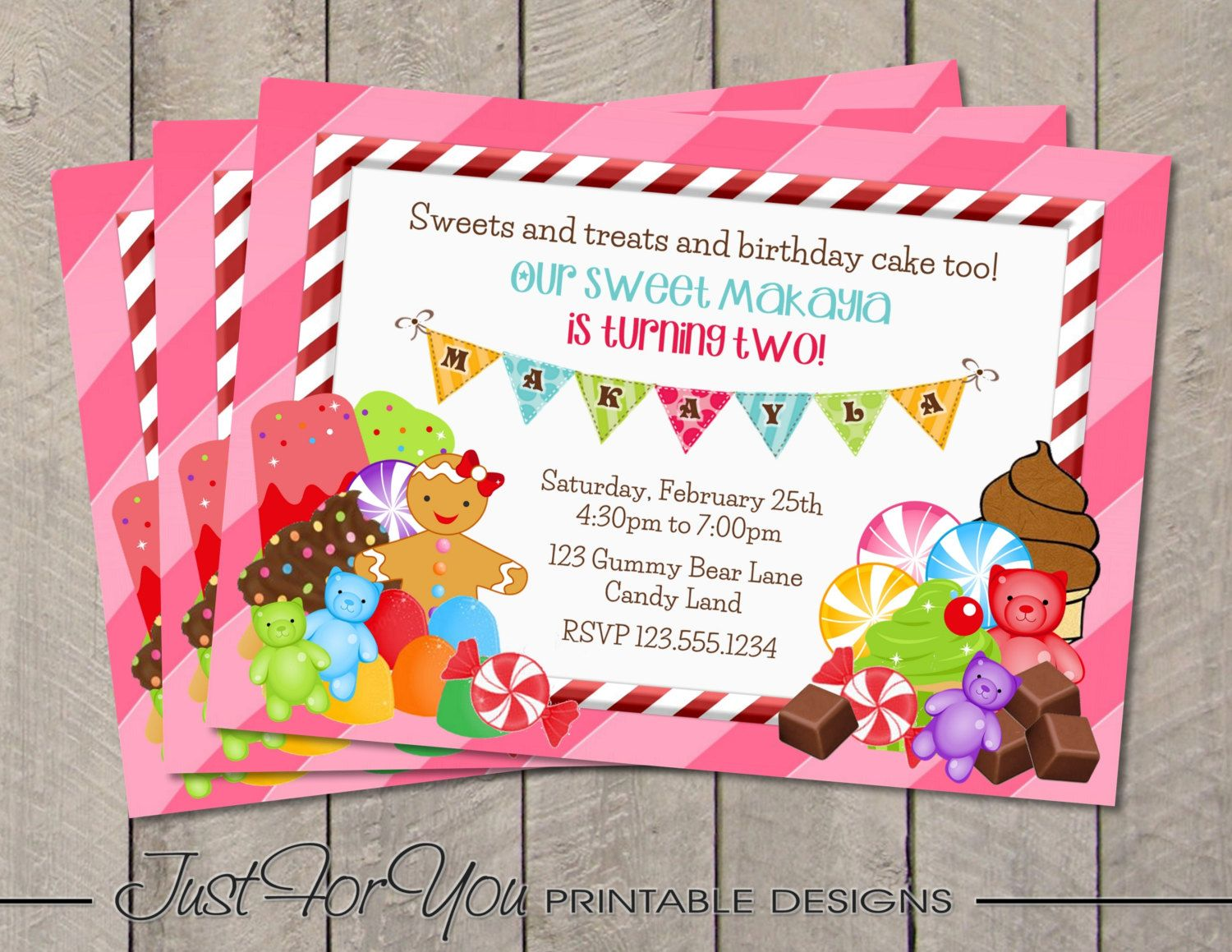 candyland queen frostine decorations | Candyland Party Invitations ...