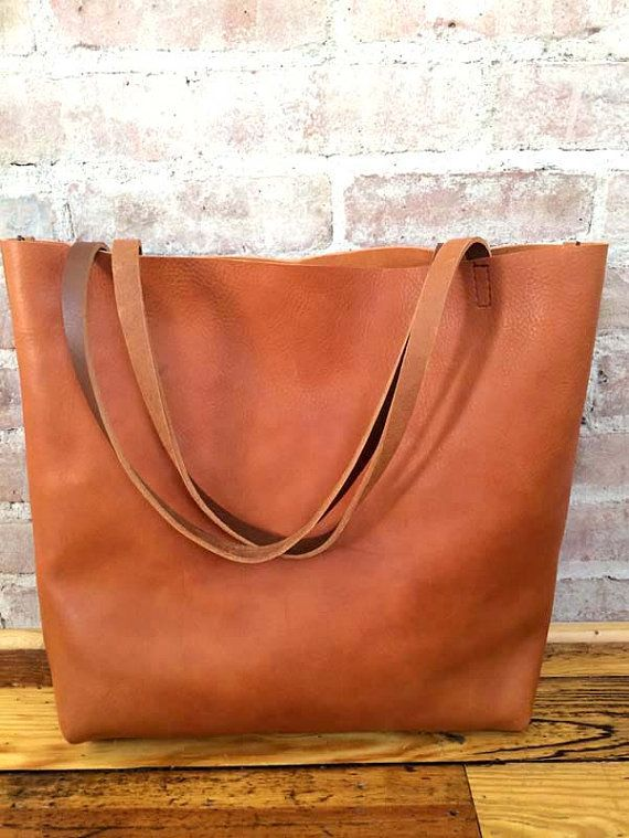 0f3e856ff54f Huge Sale -SALE 20% OFF - camel Brown Leather Tote Bag - Brown ...