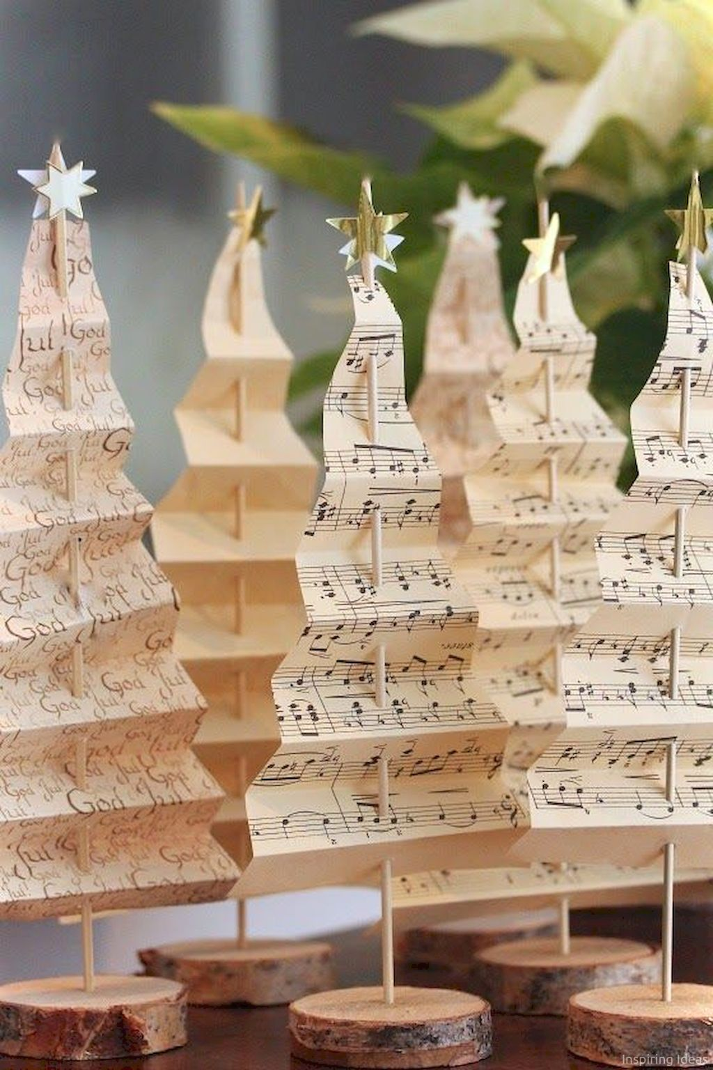 Let your room sing create these magical diy music sheet christmas trees everyone will give you  standing ovation also easy decorations ideas on budget pinterest rh za