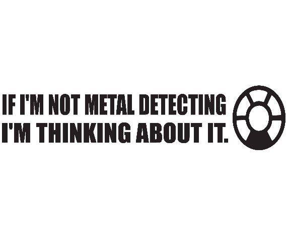 Metal detecting vinyl decal sticker