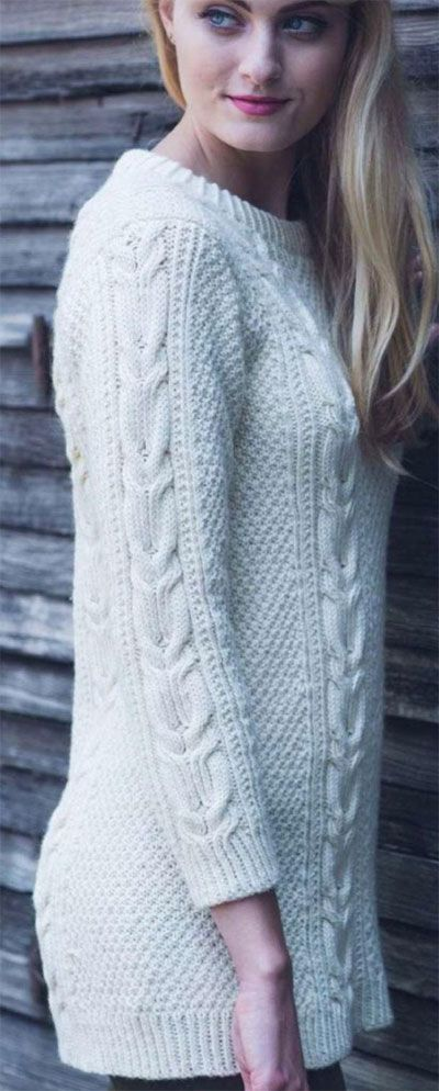 Twisted cable pullover | Knit | Pinterest
