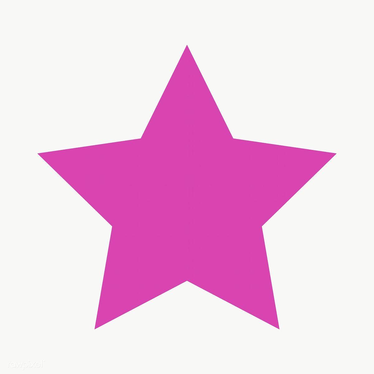 Pink Star Geometric Shape Transparent Png Free Image By Rawpixel Com Ningzk V Geometric Star Geometric Shapes Pink Stars