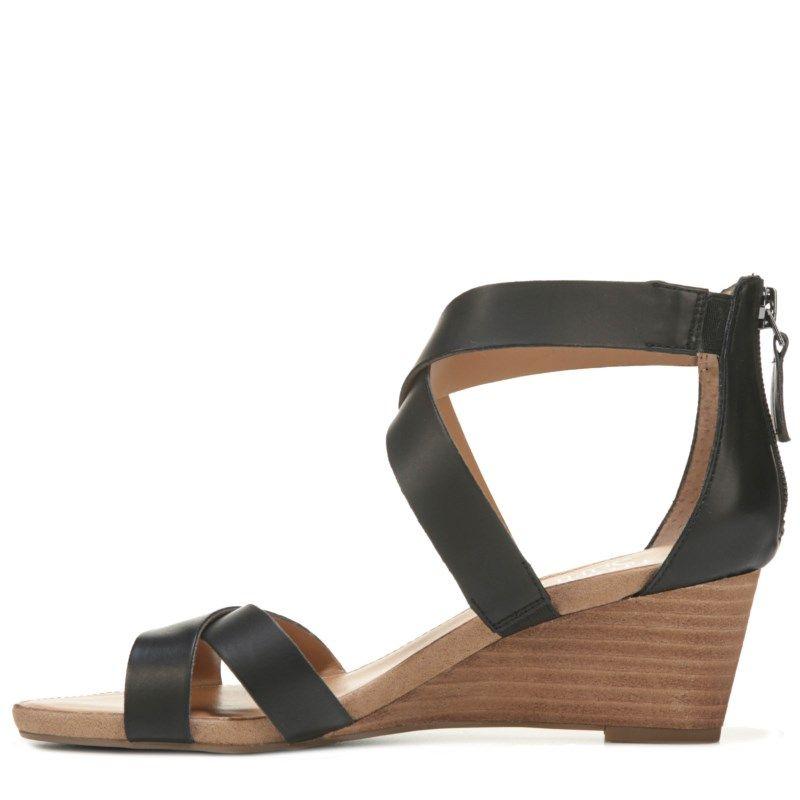Franco Sarto Women's Darling Wedge Sandals (Black)