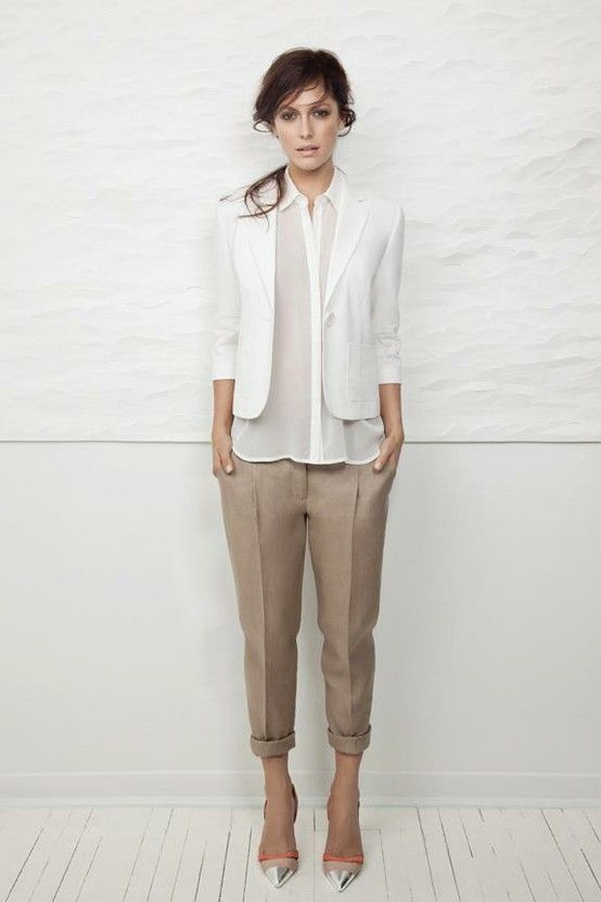feminine twist on work wear
