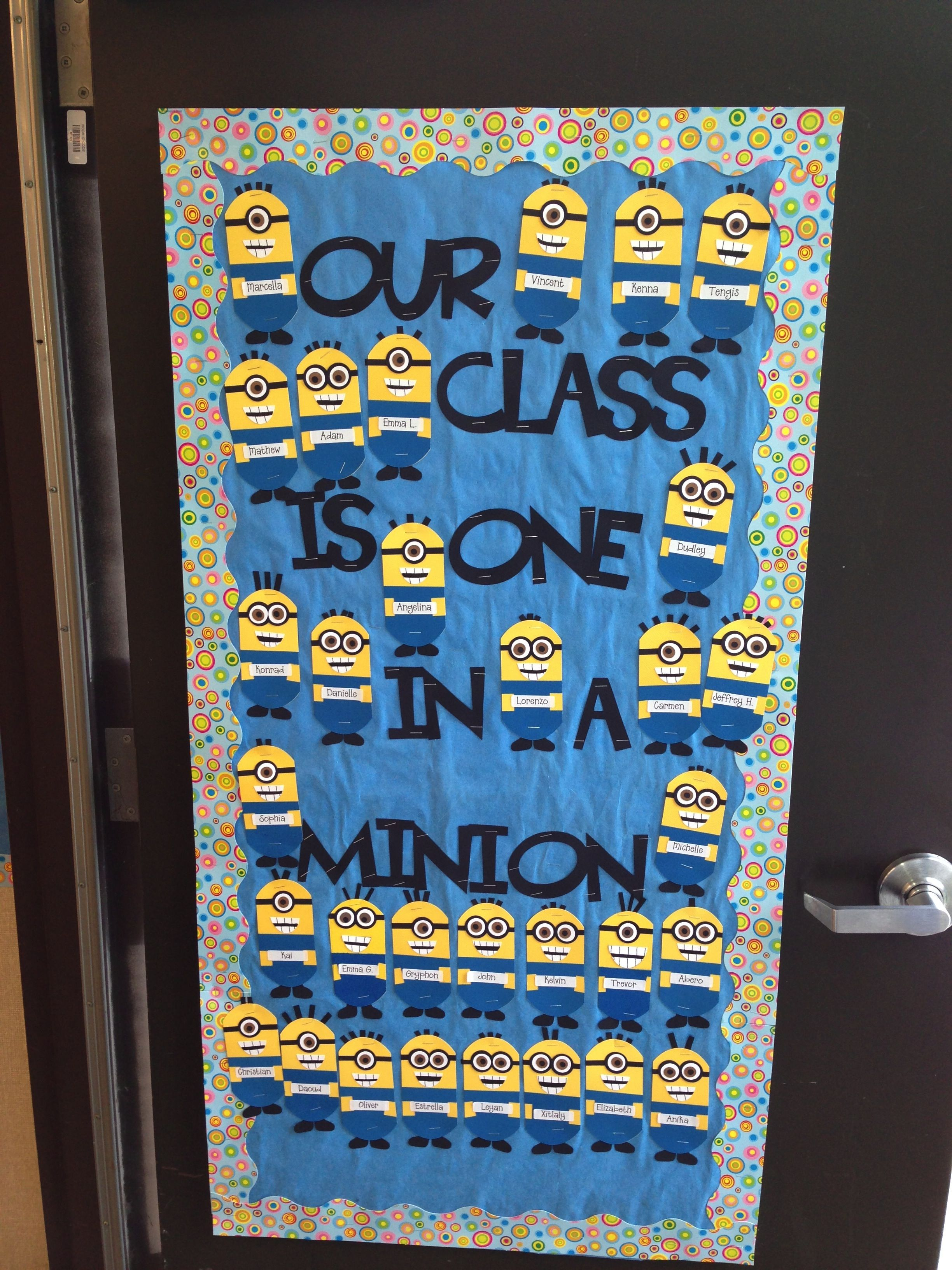 Classroom door decoration idea: Our Class is One in a ...