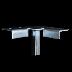 Industrial Universal Corner Support Floor Mount Wooden Swing Set