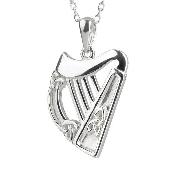 Irische Harfe Aus Sterling Silber Von Solvar Ireland