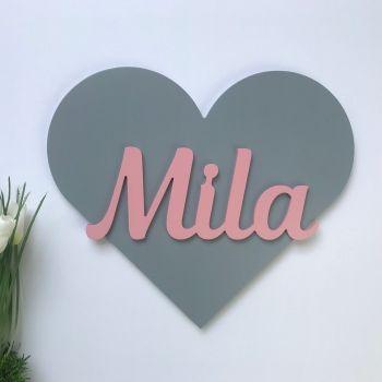 Kinderzimmer Namensschild Herz Namensschilder