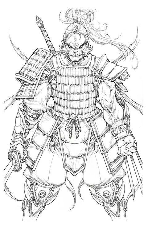 Samurai Wolverine •Paolo Pantalena | wolverine | Pinterest | Bocetos ...