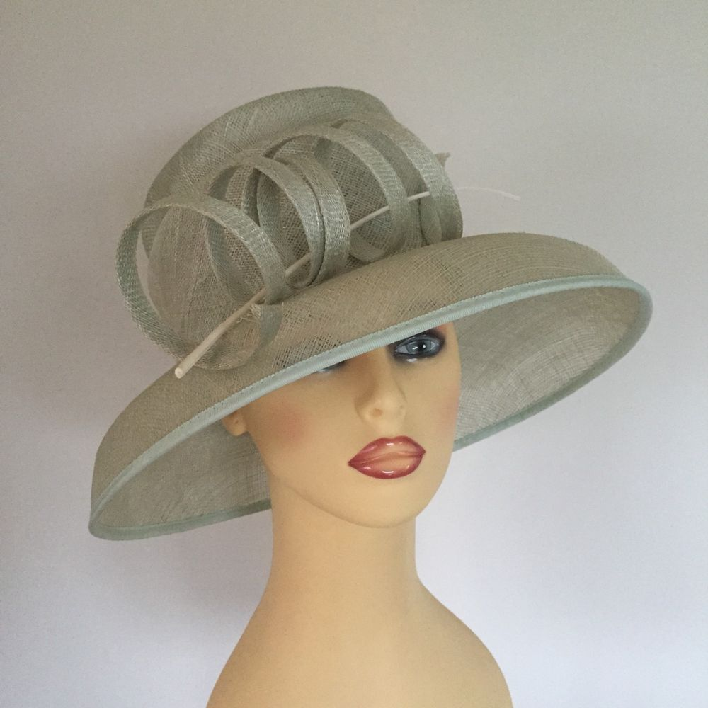 Ladies Wedding Races Mother Bride Races Hat Pale Mint Green by GOLD e147968f3da