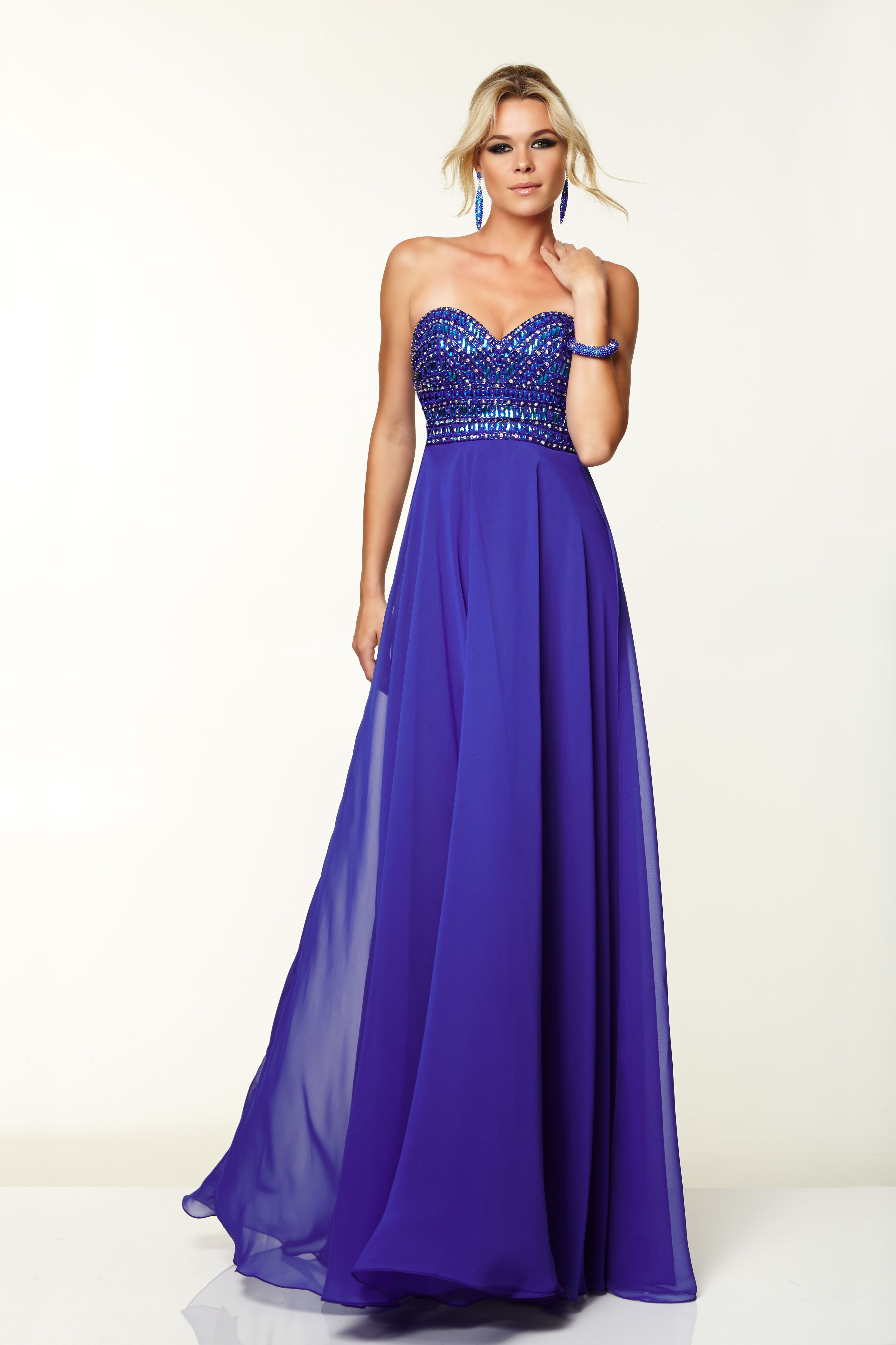 Sweetheart With Jeweled Bodice  by Mori Lee, $428, paparazziprom.com   - Seventeen.com