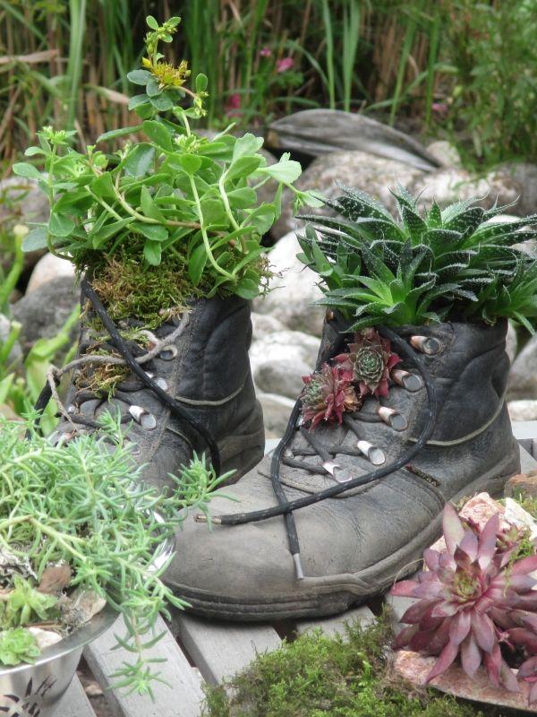 Mit Phantasie Lassen Sich Tolle Gartendekorationen Zaubern ... Mini Garten Aus Sukkulenten Selber Machen