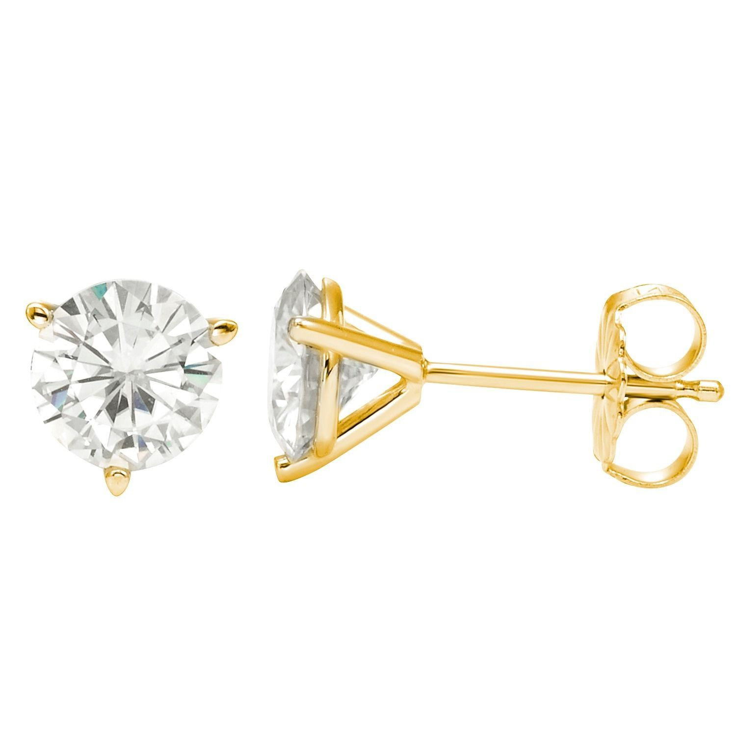 com earrings brilliant by gold charles dp amazon jewelry dew stud moissanite forever round white colvard
