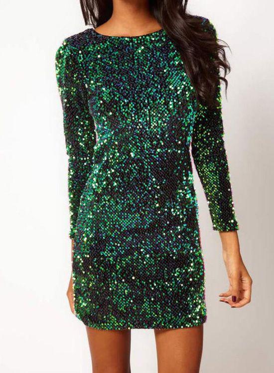eb1a7901127d 55.99] Sequins Retro Sexy Evening Dress | Sexy Evening Dresses ...
