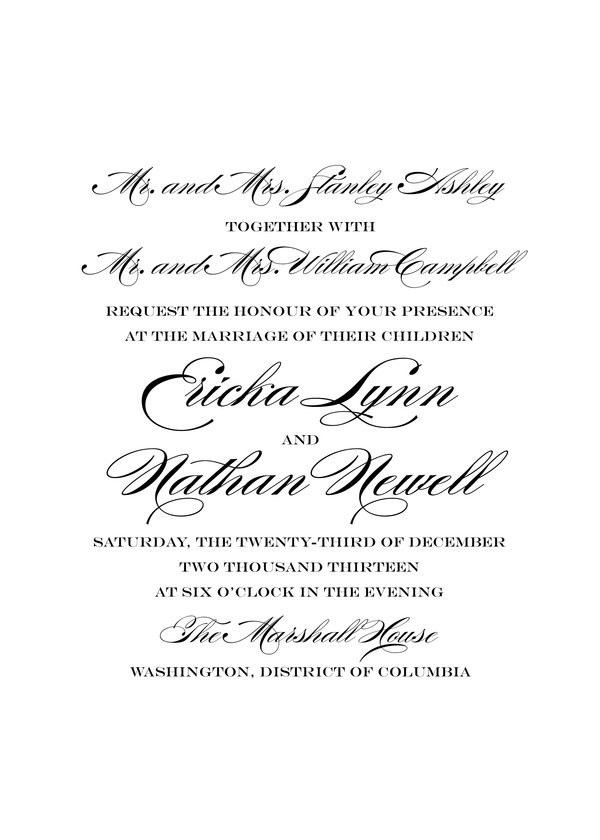 wedding invitations traditional wedding kleinfeld paper