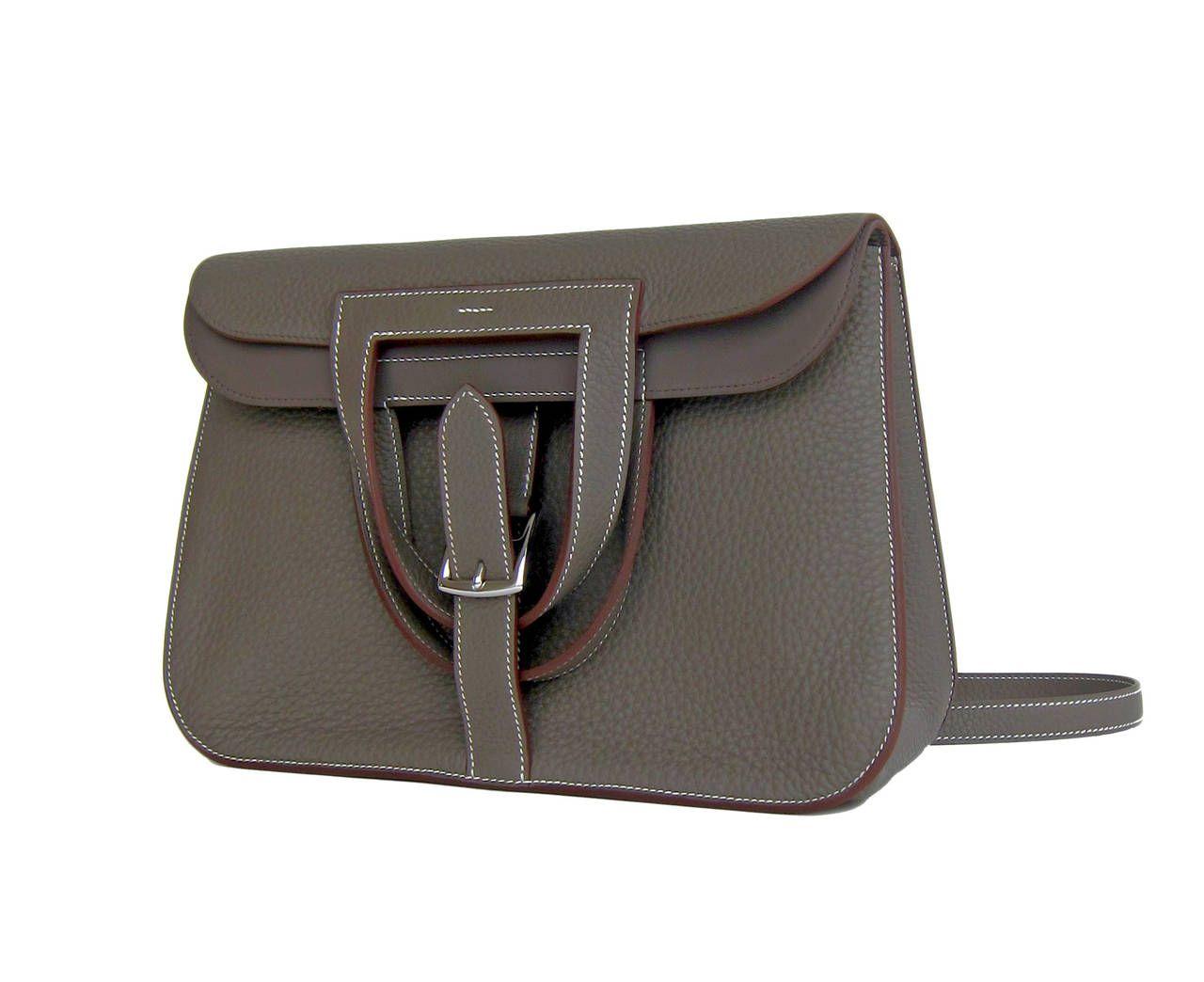 Trendy Handbags · Hermes Etain Grey Halzan 4-way Clemence Crossbody Bag    From a collection of rare 96dbf702d8