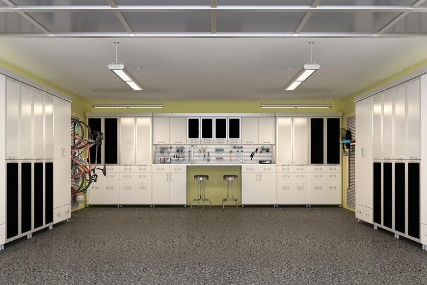 Pin On Great Looking Rooms, White Melamine Garage Storage Cabinets