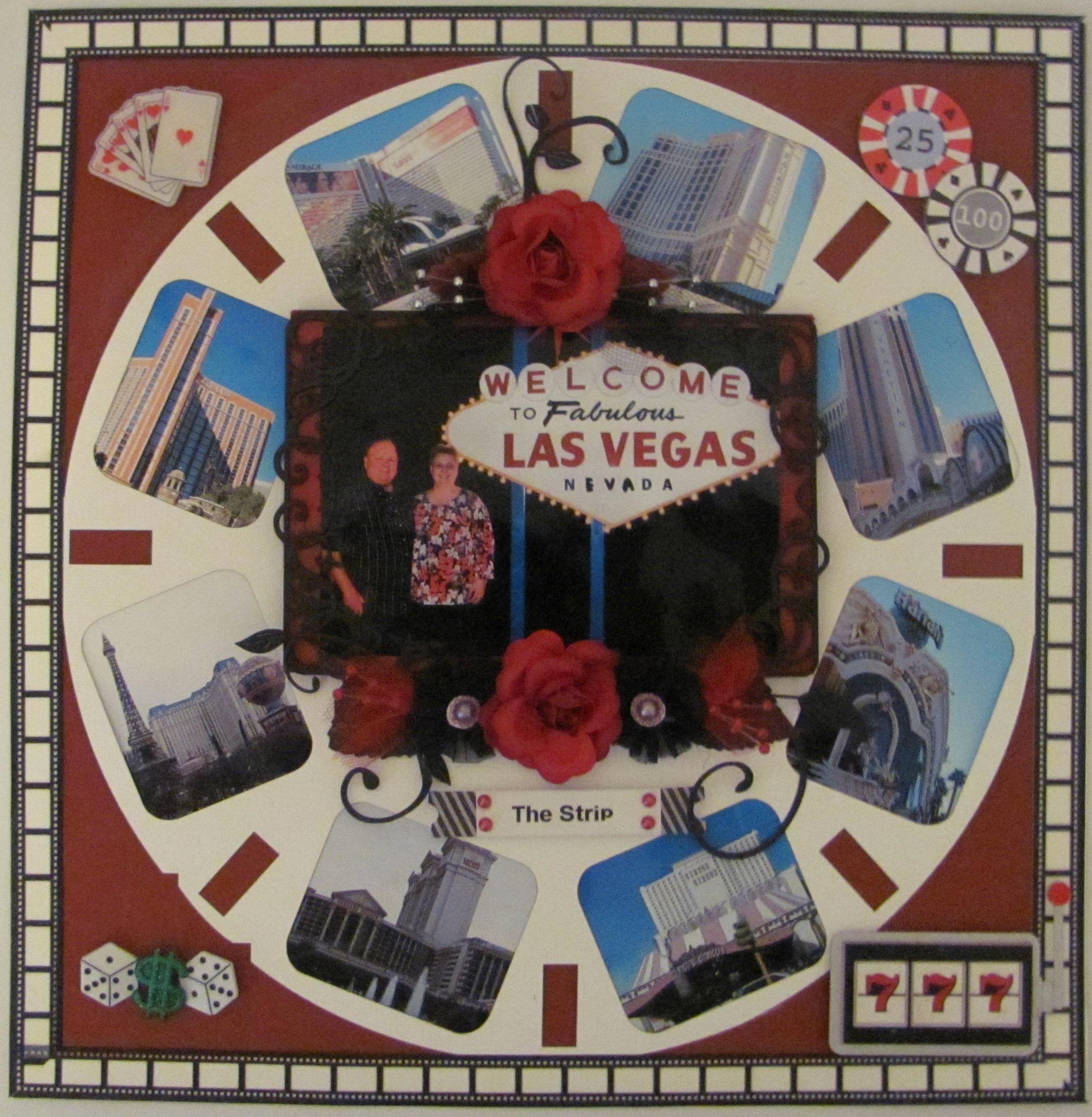 Scrapbook ideas las vegas - Las Vegas The Strip Scrapbook Com Scrapbooking Layouts Vegasscrapbooking