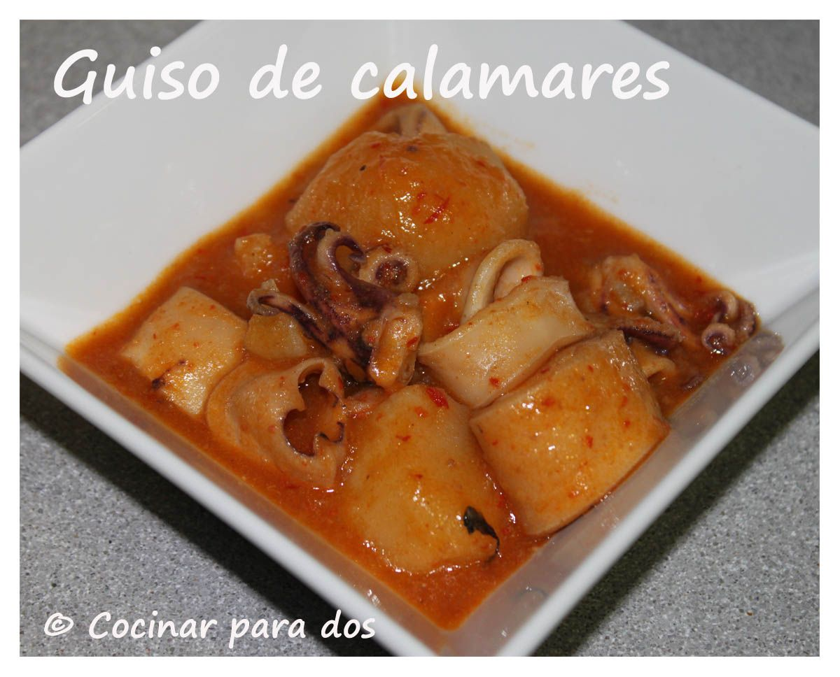 Calamares en salsa olla rapida