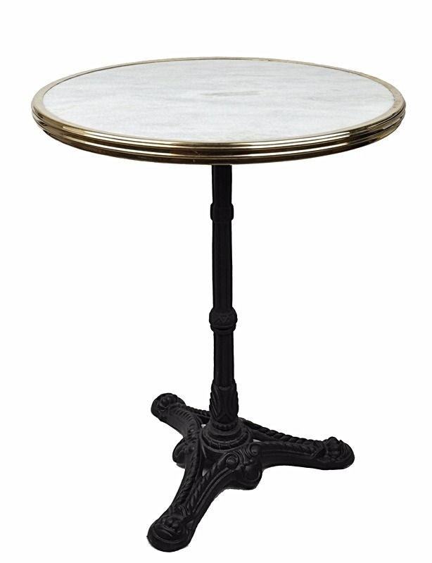 24 White Marble Top French Bistro Table Marble Bistro Table