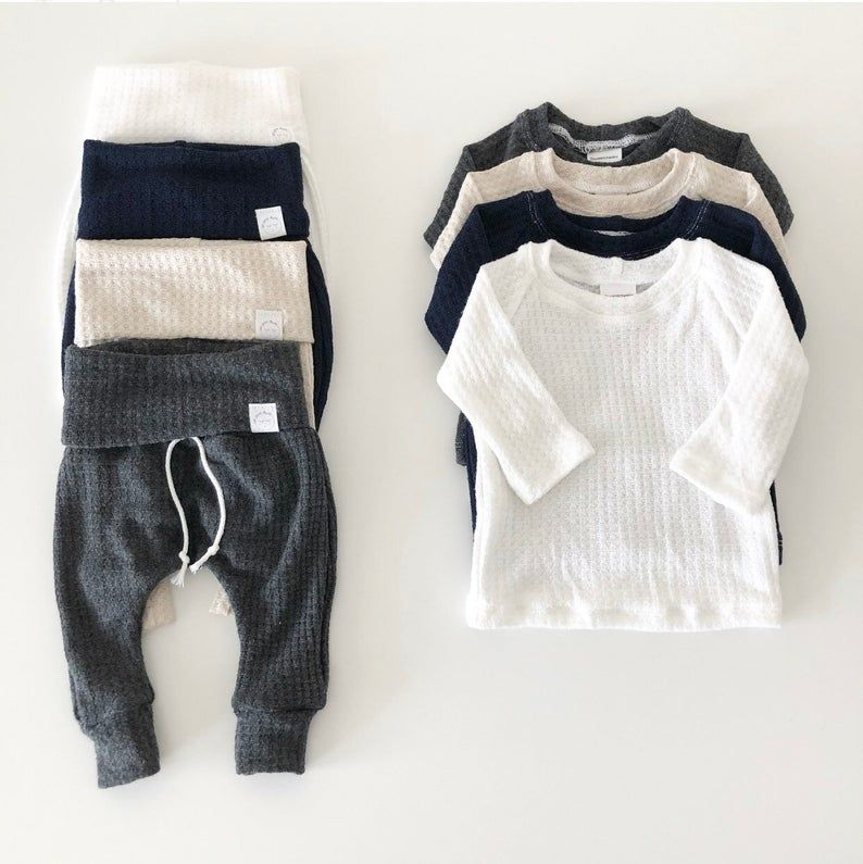 Charcoal gray outfit, baby boy clothes, gender neu